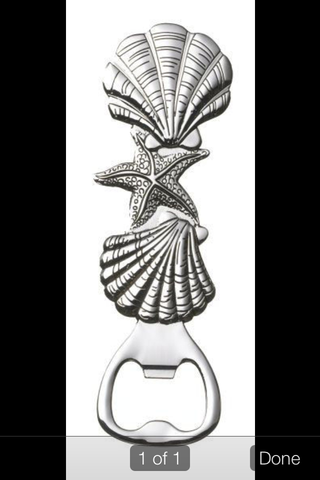 Ganz Shells Starfish Zinc Bottle Opener