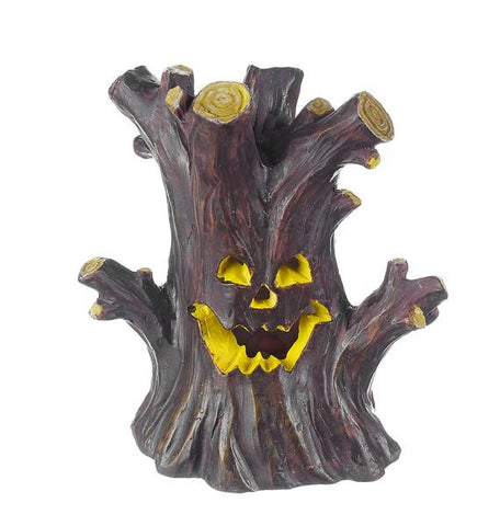 Ganz Mini spooky Haunted TreeHouse LED Figure for Fairy Garden ~ Lights Up  ~ Polystone