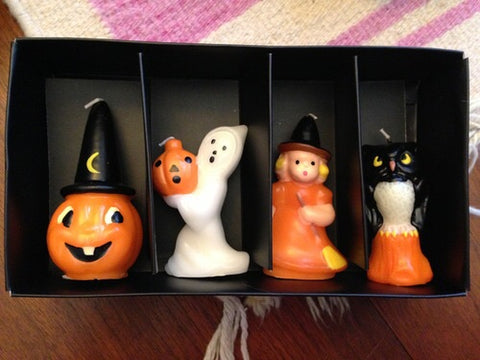 Vintage Style Halloween Mini Gurley Repro Candle set of 4