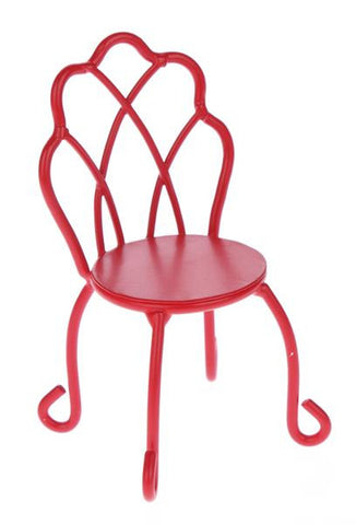 Ganz Mini Iron Red Chair Figure for  Holiday Fairy Garden ~ matches Table and bench