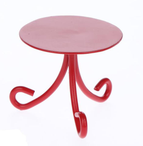 Ganz Mini Iron Red Table Figure for Fairy Garden ~ matches chairs and bench