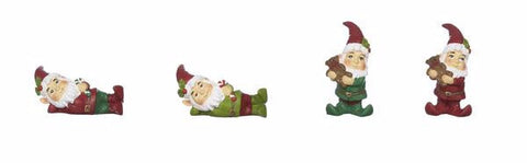 Christmas Santa Gnome Elves Figure for Fairy Garden ~ 1