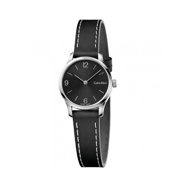 Calvin Klein Women's Leather Strap Black Quartz Analog Watch - K7V23