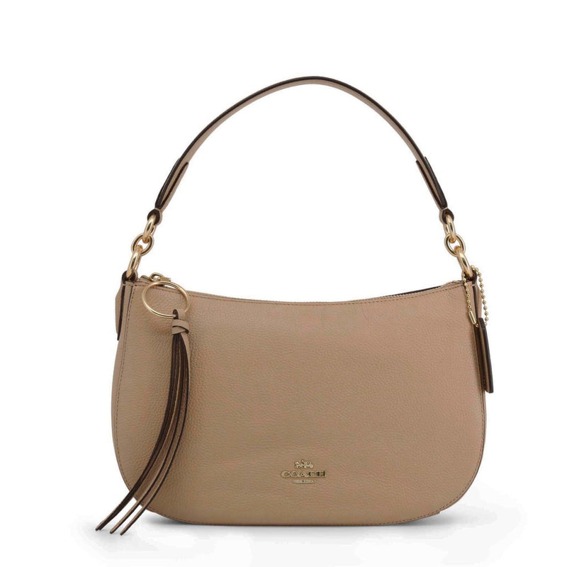 Coach Women's Zip Closure Leather Shoulder Bag - 52548