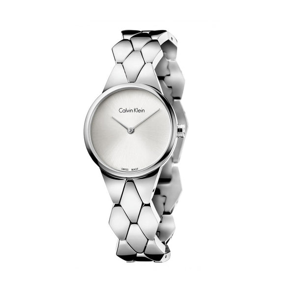 Calvin Klein Women's Steel Strap Grey Quartz Analog Watch - K6E23