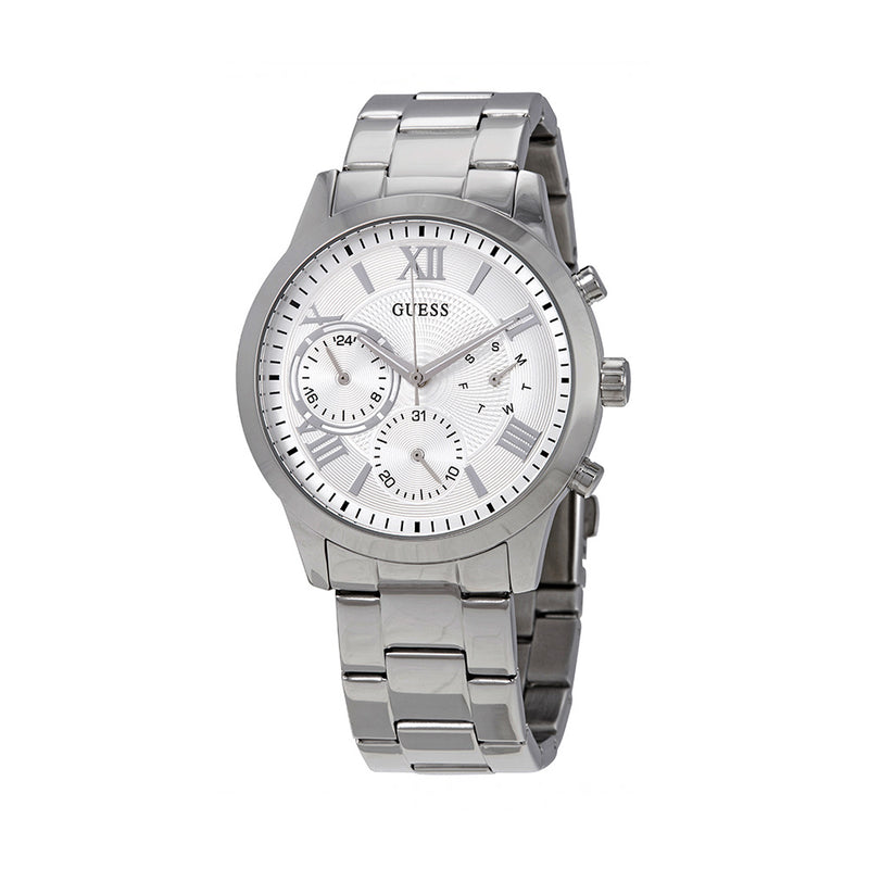 Guess Women's Steel Strap Grey Quartz Analog Watch - W1070