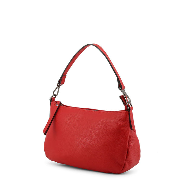 Made in Italia Women's Zip Closure Leather Shoulder Bag - FIORENZA