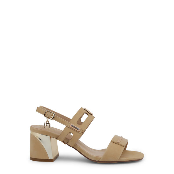 Laura Biagiotti Women's Ankle Strap Buckle Sandals - 6151_NABUK