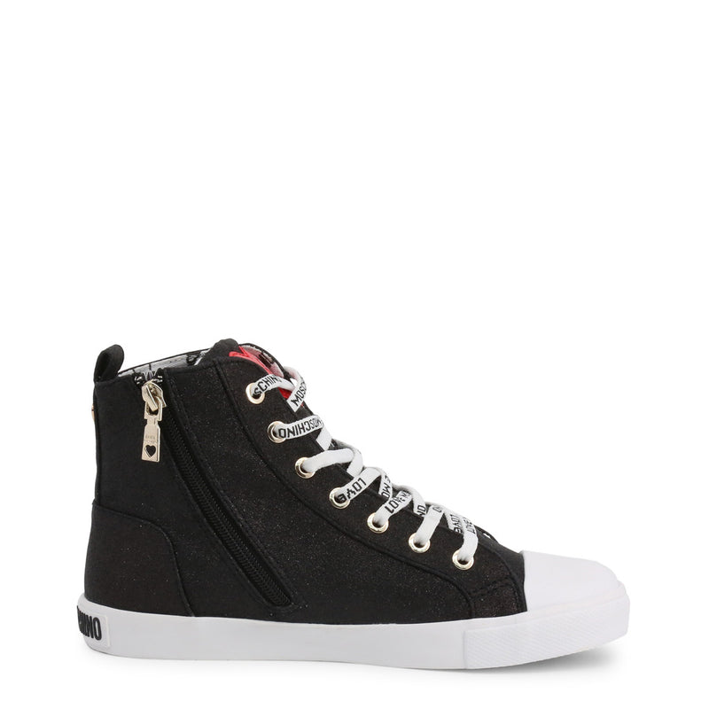 Love Moschino Women's Sneakers With Side Zip - JA15023G18IL