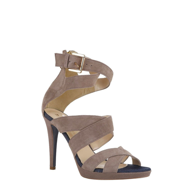 Trussardi Women's Ankle Strap Sandals With Rear Zip - 79S003