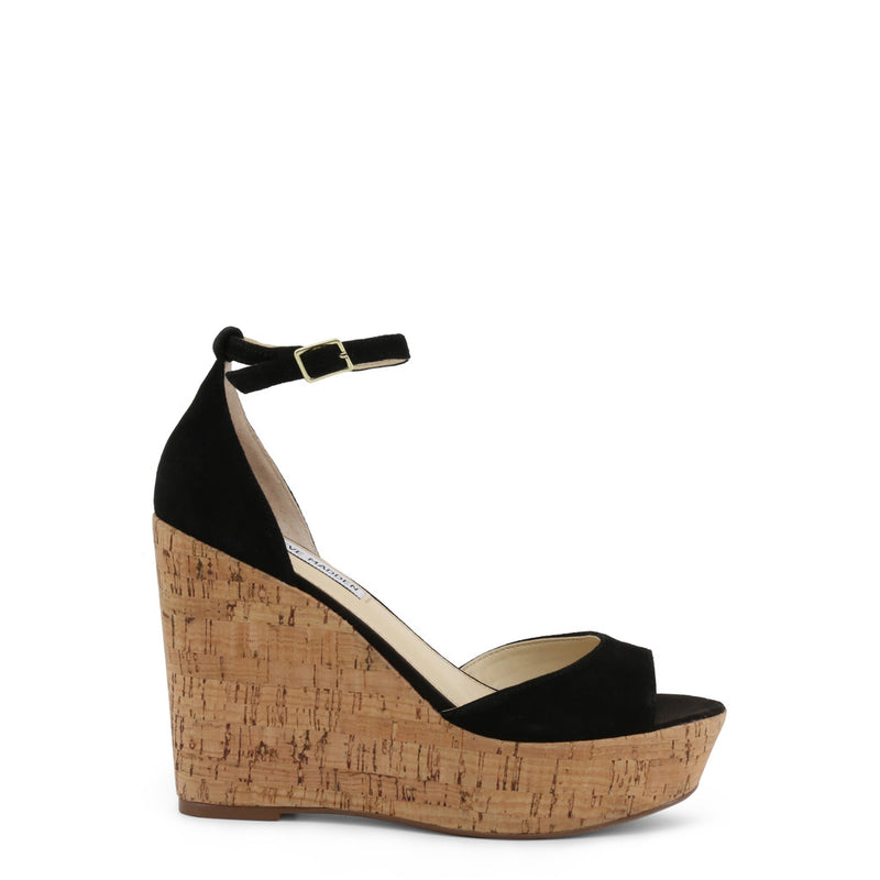 Steve Madden Women's Suede Ankle Strap Buckle Wedges - PANDORE