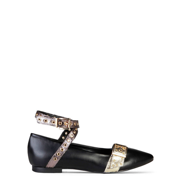 Made In Italia Women's Flat Shoes, Buckles, Adjustable Ankle Strap - ANTONELLA