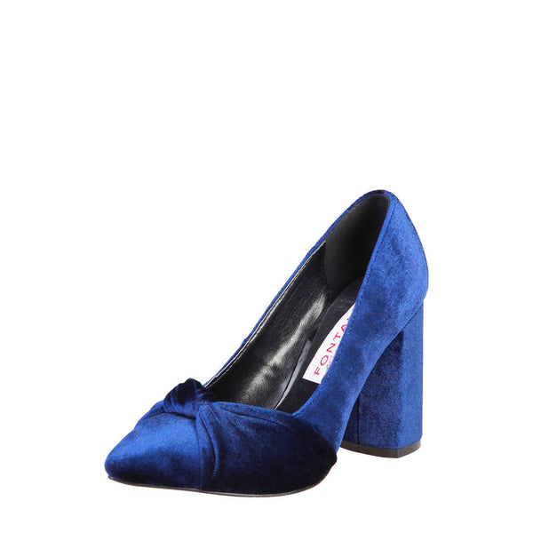 Fontana 2.0 Velvet Women's Suede Leather Pumps - GIUSI