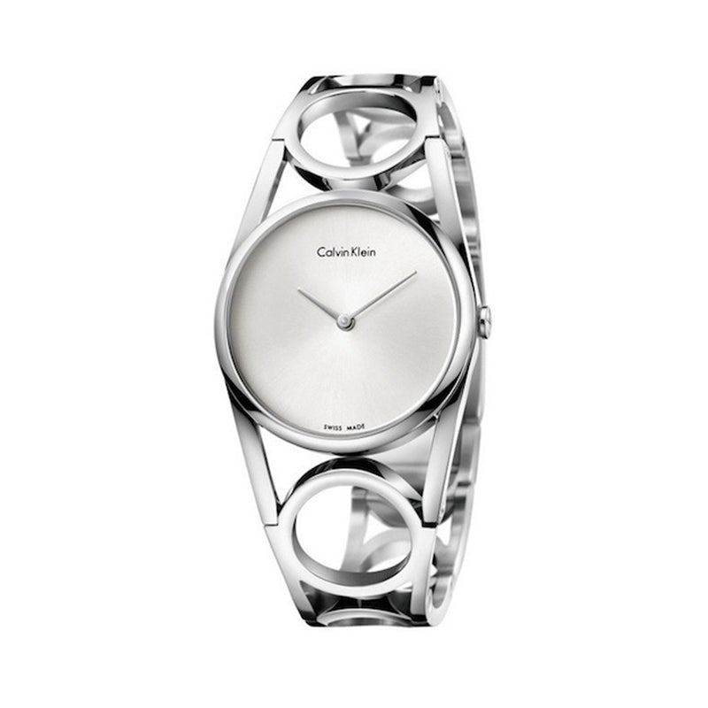 Calvin Klein Women's Steel Strap Grey Quartz Analog Watch - K5U2M