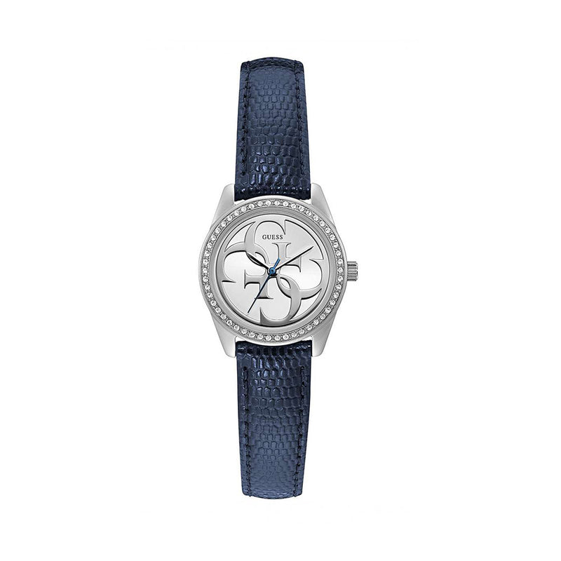 Guess Women's Leather Strap Blue Quartz Analog Watch - W1212
