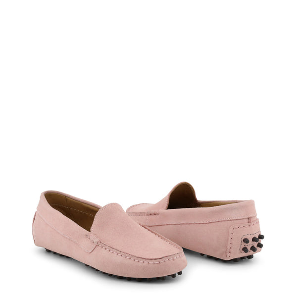 Made in Italia Women's Suede square toe Loafers - FOTOROMANZA_CAM