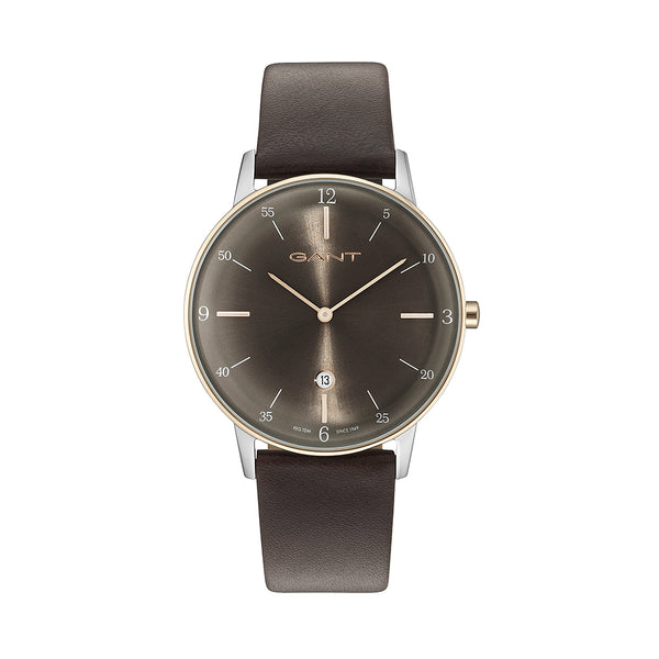 Gant Unisex Leather Strap Brown Quartz Analog Watch - PHOENIX_G