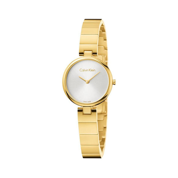 Calvin Klein Women's Steel Strap Yellow Quartz Analog Watch - K8G23