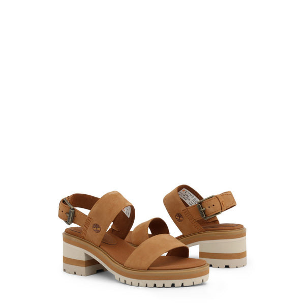 Timberland Women's Leather Ankle Strap Sandals - VioletMars
