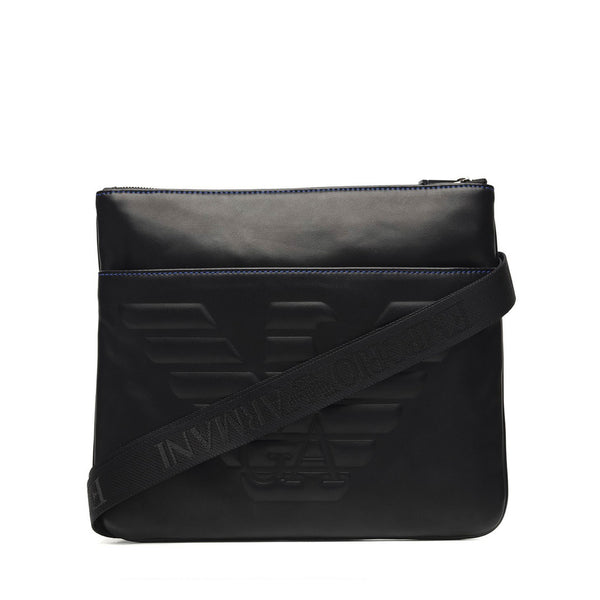 Emporio Armani Men's Zip Closure Crossbody Bag - Y4M181-YG90J