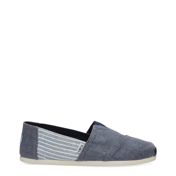 TOMS Men's Slip-On Shoes - DEEP-OCEAN-LINEN