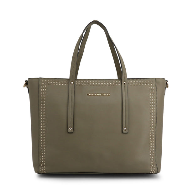 Trussardi Women's Zip Closure Shopping Bag - 75B00184