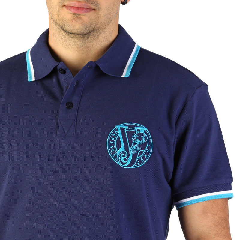 Versace Jeans Men's Short Sleeve Polo shirt - B3GTB7P0_36571