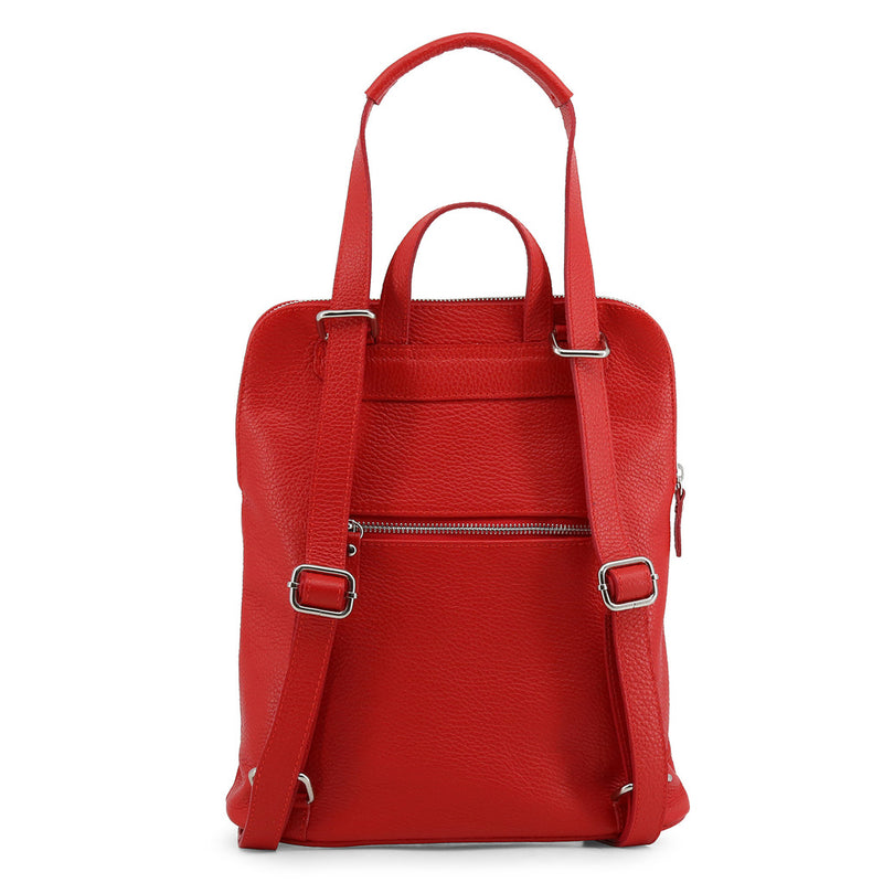 Made in Italia Women's Zip Closure Leather Backpack - ISADORA