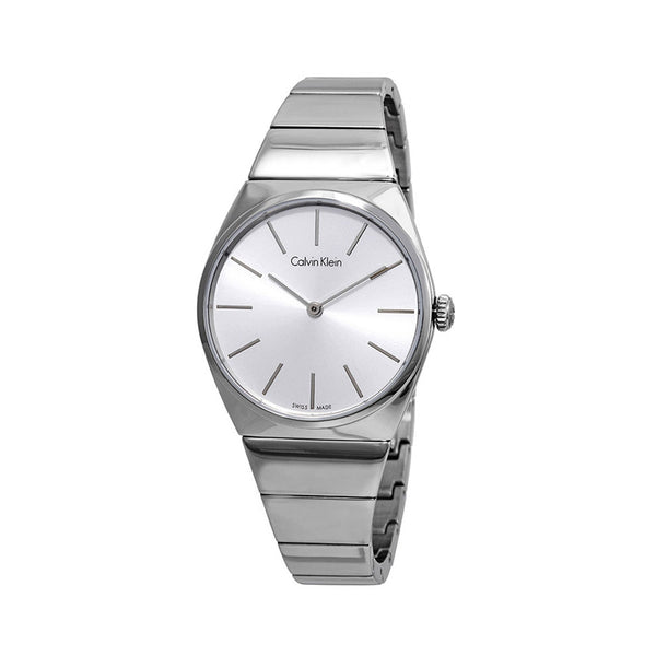 Calvin Klein Women's Steel Strap Grey Quartz Analog Watch - K6C2X1