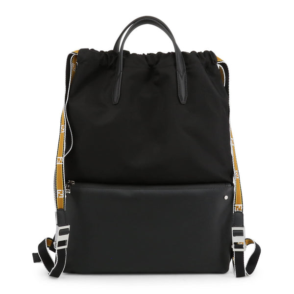 Fendi Unisex Drawstring Leather Backpack - 7VZ034A2WKF0GXN