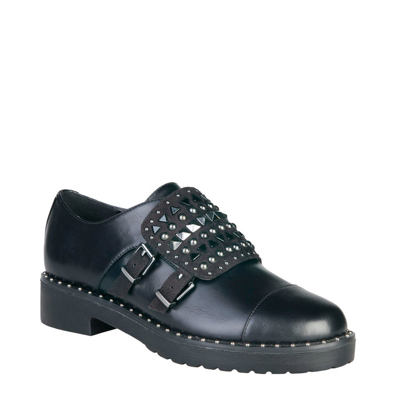 Ana Lublin Women's Double Buckle Shoes with Studs - LINN