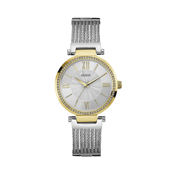 Guess Women's Steel Strap Yellow Quartz Analog Watch - W0638