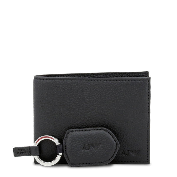 Armani Jeans Men's Leather Wallet and Key Holder Gift Set - 937502_CD992_GIFTBOX