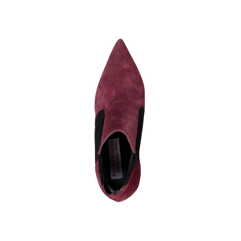 Fontana 2.0 Women's Ankle Boots, Suede, Elastic Side Band, Contrasting Colours - FRANCY