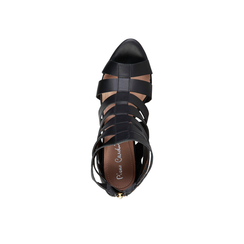 Pierre Cardin Women's Leather Sandals With Rear Zip - ELEONORE