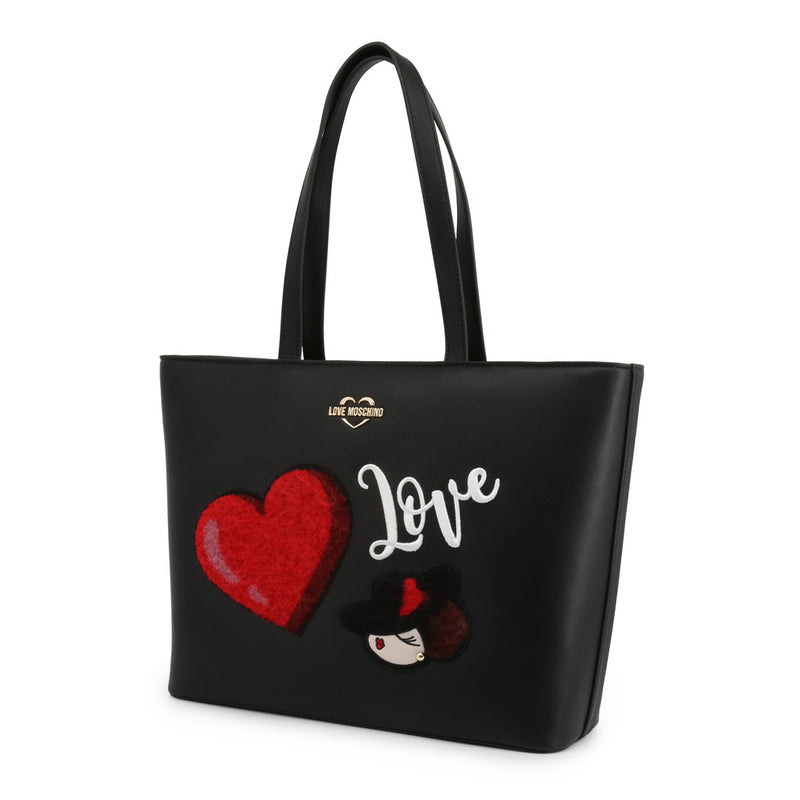Love Moschino Women's Zip Closure Shopping Bag - JC4090PP18LP