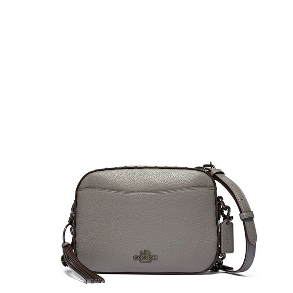 Coach Women's Leather Camera Bag With Rivets