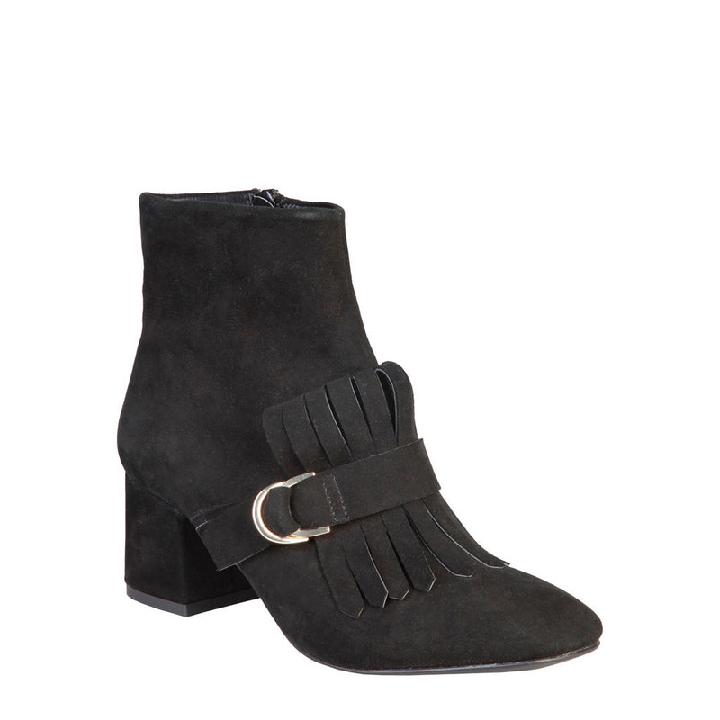 Fontana 2.0 Women's Suede Ankle Boots, Side Zip, Fringes - MILLY