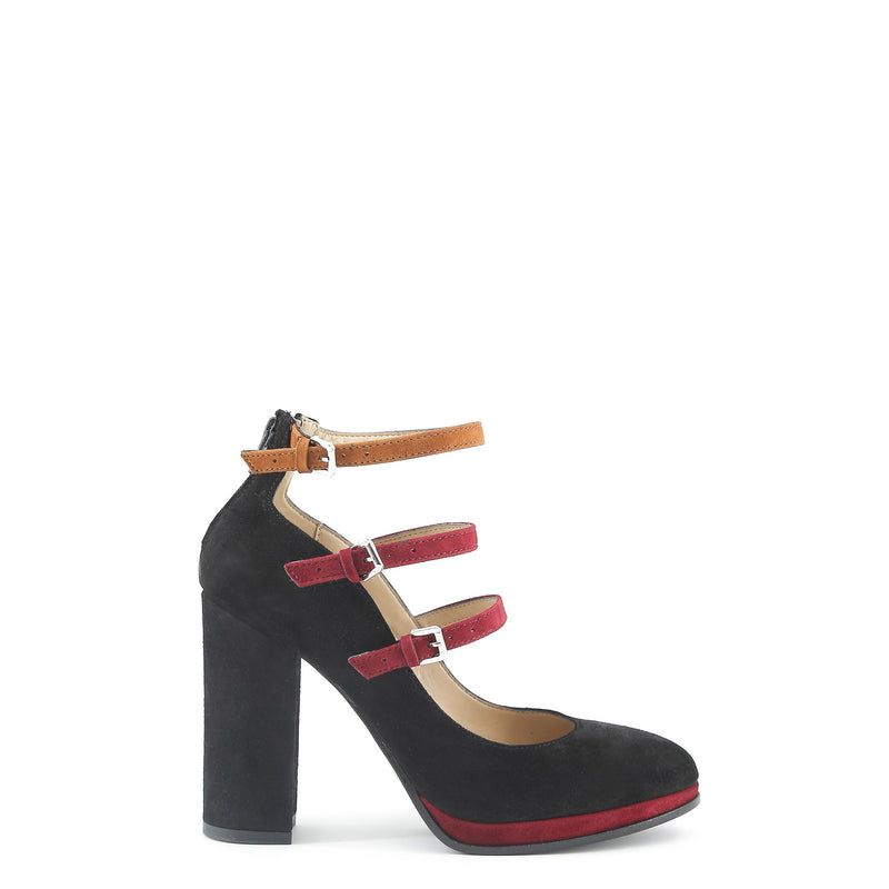 Made in Italia Women's Suede Ankle Strap Court Shoes - FILOMENA