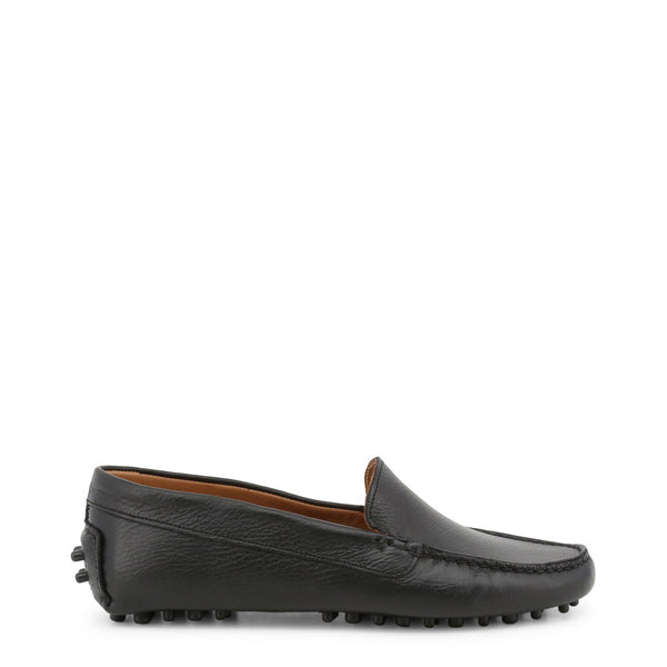 Made in Italia Women's Leather square toe Loafers - FOTOROMANZA