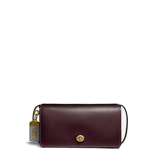 Coach Women's Snap Closure Leather Crossbody Bag - 28555