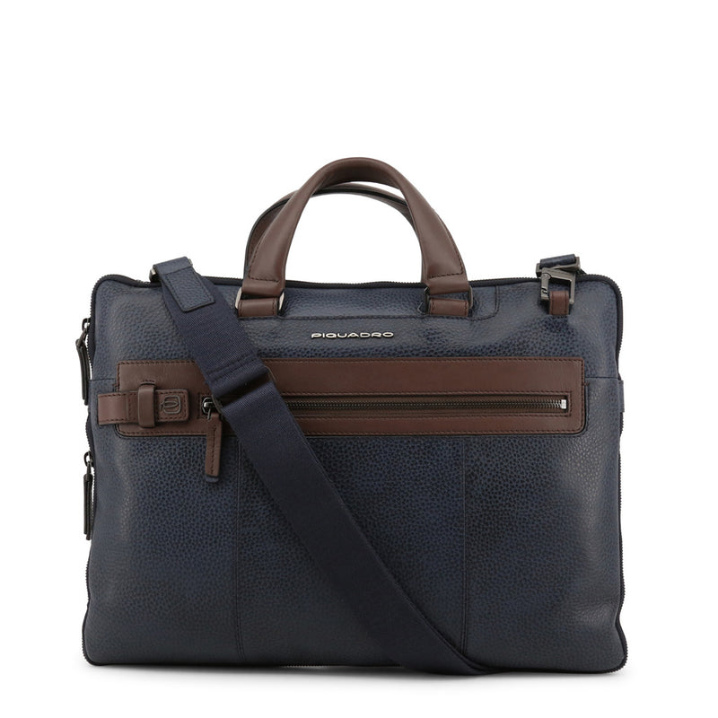 Piquadro Men's Zip Closure Leather Briefcase - CA4197W83