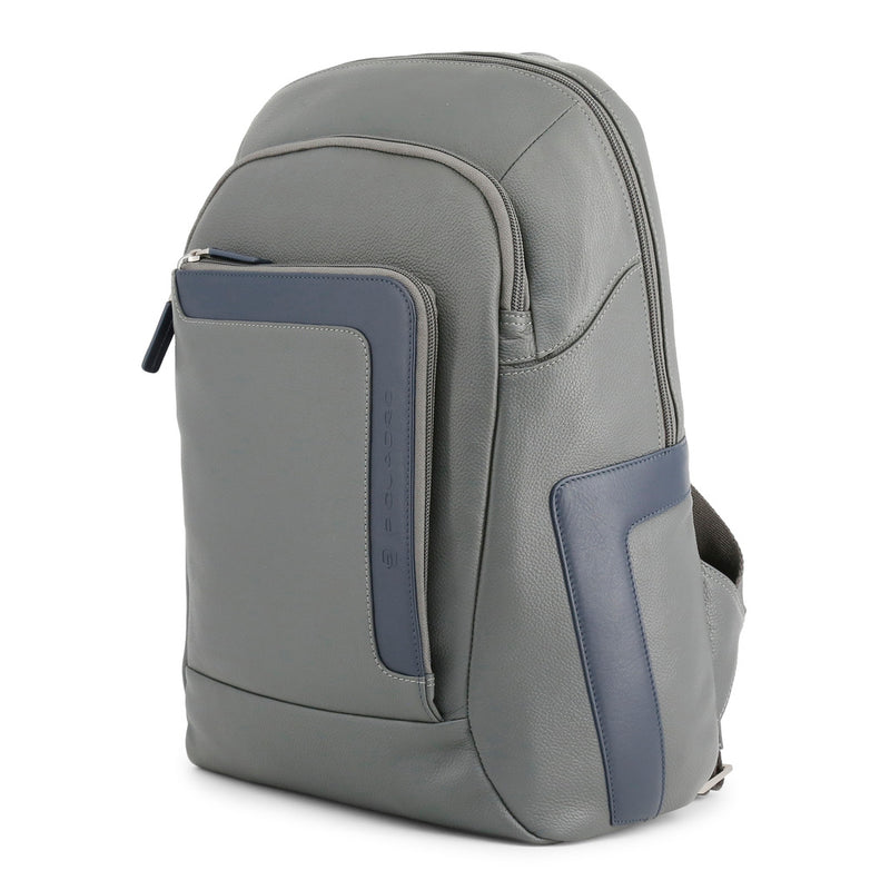 Piquadro Men's Zip Closure Leather Backpack - CA3214X1