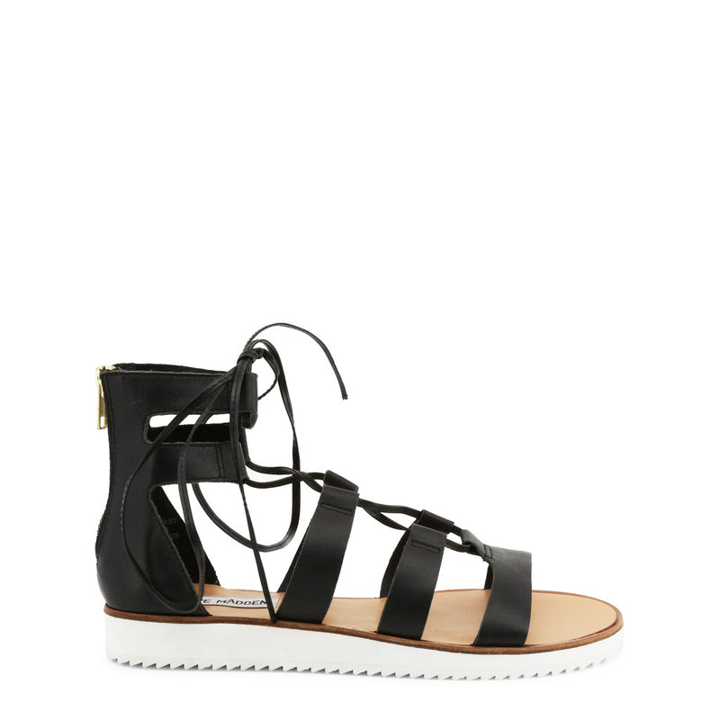 Steve Madden Women's Leather Sandals With Rear Zip - MARVELL