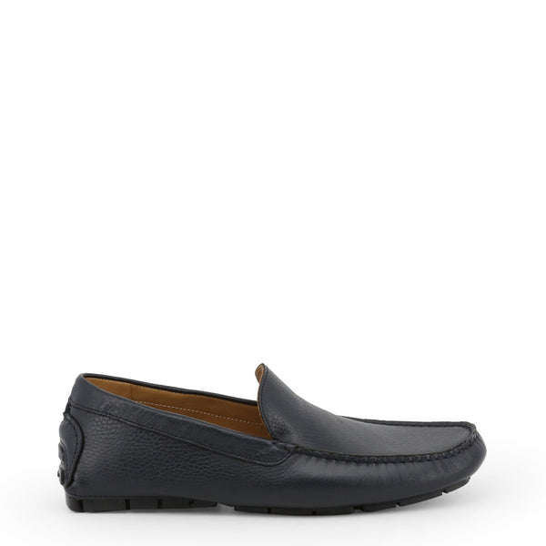 Made in Italia Men's Leather square toe Loafers - ACQUARELLO