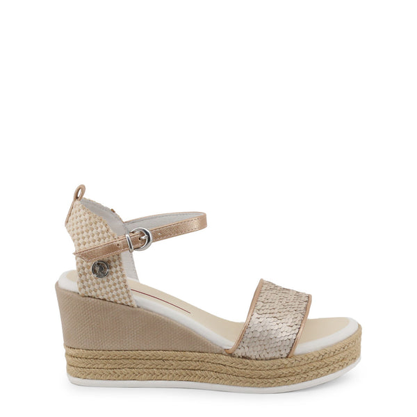 U.S. Polo Assn. Women's Buckle Wedges - DONET4176S9_T1