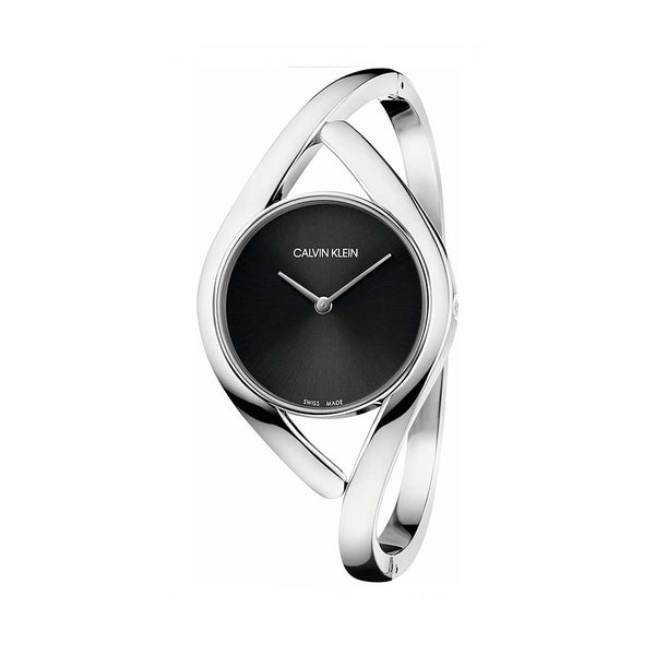 Calvin Klein Women's Steel Strap Grey Quartz Analog Watch - K8U2S