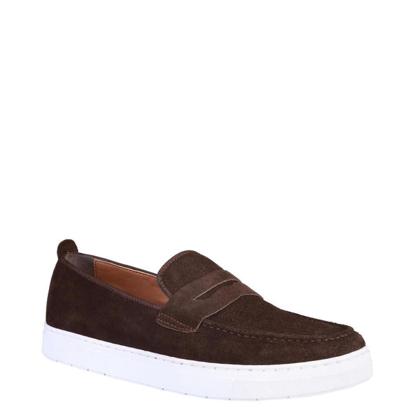 Pierre Cardin Men's Suede Moccasins With Passageway - ALPHONSE