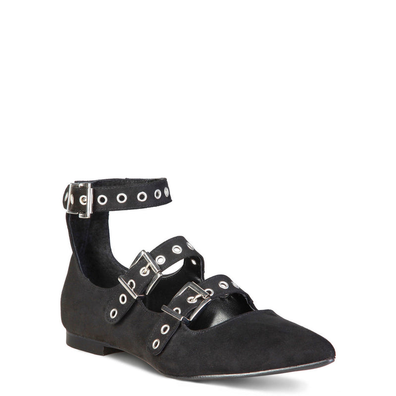 Made In Italia Women's Ankle Strap Flat Shoes with Buckles - ANASTASIA