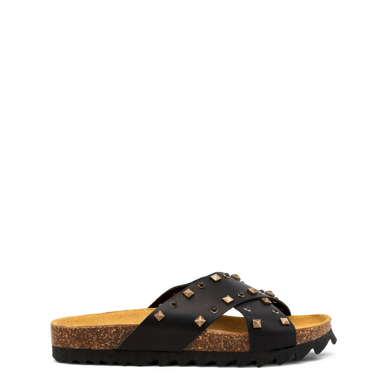 Ana Lublin Women's Leather Wedge Sandals - CREUZA